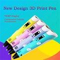 4 Colores Puede Elegir de Dibujo 3D 1.75mm ABS/Filamento del PLA 3D pluma Con Pantalla LED Dibujo Creativo Juguetes Para Los Niños Envío Gratis