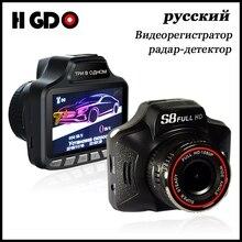 Русский 3 в 1 голос Видеорегистраторы для автомобилей Антирадары GPS HD 1080 P Видеорегистраторы для автомобилей фиксированной и скорость потока Скорость радар обнаружения тире cam g-сенсор