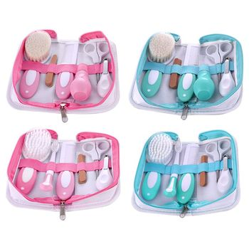 Baby Nursing Kit Clippers Trimmer Brush Comb Professional Portable All in One Newborn Children Care Grooming Safe Nail Scissors
