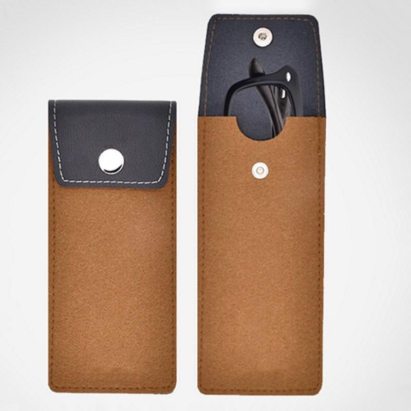 Lightweight Leather Wool feltbags Sunglasses Bag Eyeglass Cases for Women Men Eyewear Pouch Spectacle Cloth Bag Sunglass Pouch