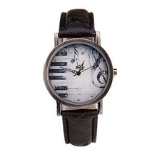vintage mens watches for online shopping the world largest 2016 hot vintage fashion men women retro notes piano keys printed dial clock leather analog
