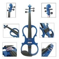 IRIN blue electroacoustic violin high grade blue beginners playing electroacoustic violin Free Shipping