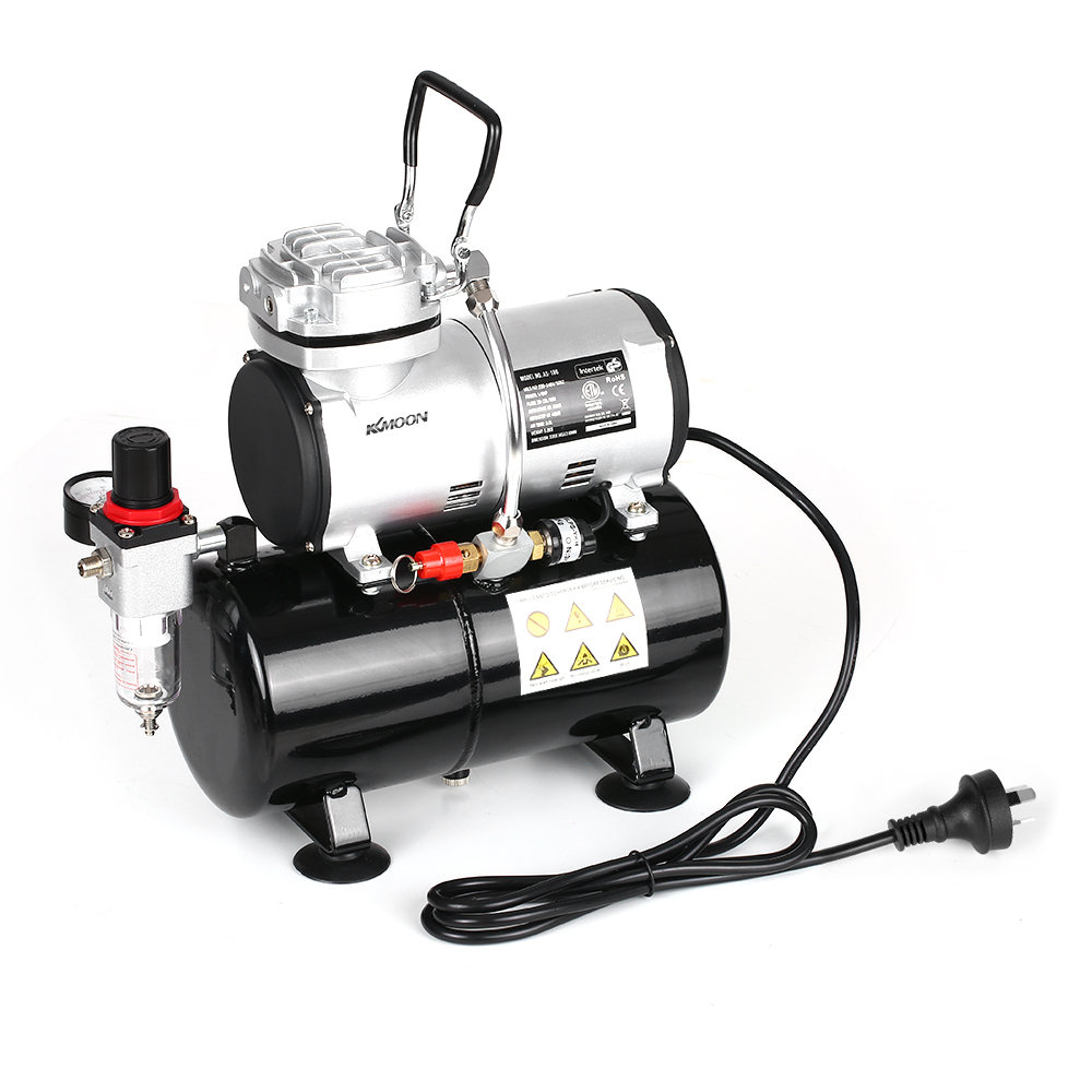KKmoon Spraying Air Compressor with Tank 1 6 HP Piston Airbrush Compressor Oil less Quiet High