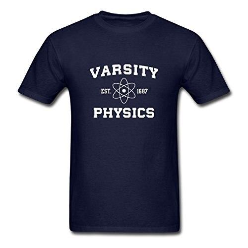 2017 new wholesale Varsity font b Physics b font Men s T Shirt 100 cotton O