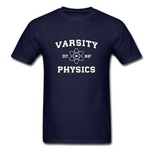 2017 new wholesale Varsity Physics Men's T-Shirt 100% cotton O-Neck T Shirt male Casual short tops tee