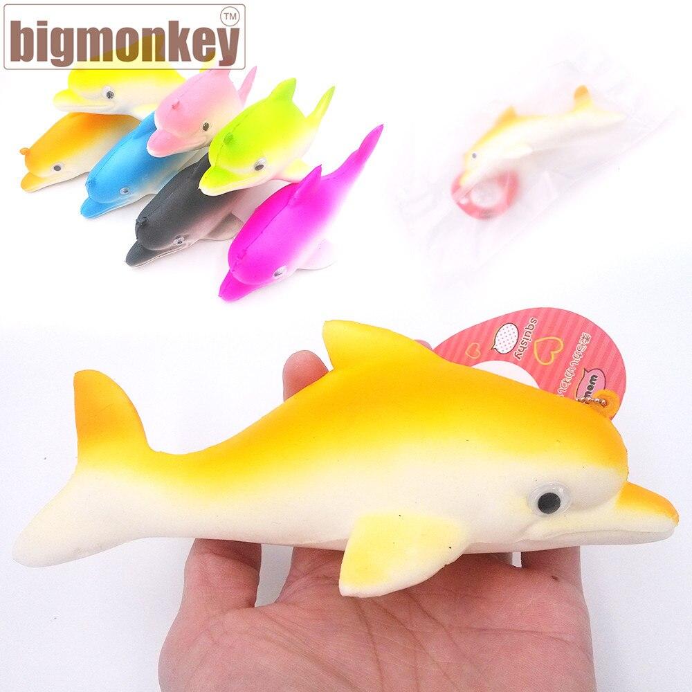 bilder für Großen affen 17,5 cm neue Kawaii Tier langsam steigenden Dolphin mit squishy charme squeeze spielzeug