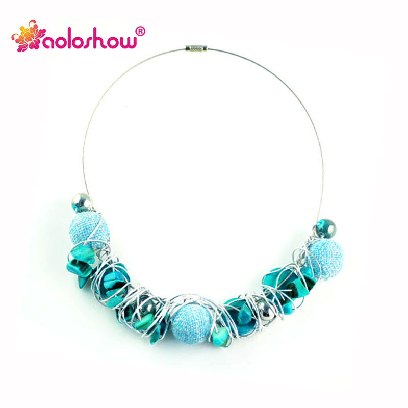 Collier Femme 2017 Bohemia Style Handmade Beads Collar for Lady\'s ...