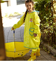 2015 New Cartoon Animal Rain Coat Pants Suit PonchosGirl S Boy S Raincoats Kids Chubasquero Set