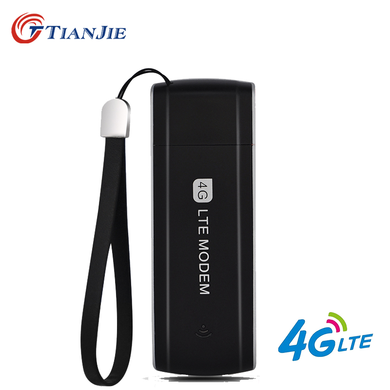TIANJIE high speed unlocked 3G 4G LTE USB modem portable USB 4G dongle 3G 4G sim card USB Dongle Universal USB Network Adapter(China)