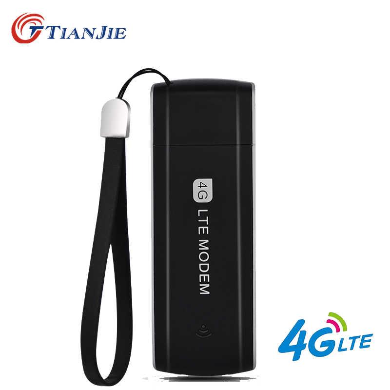 TIANJIE عالية السرعة مقفلة 3G 4G LTE مودم USB المحمولة USB 4G دونجل 3G 4G سيم بطاقة USB دونغل العالمي USB محول الشبكة