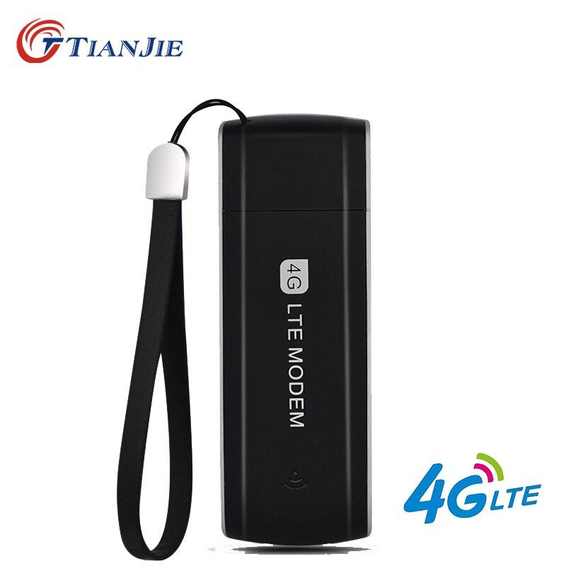 TIANJIE 3G 4G LTE desbloqueado modem USB de alta velocidade USB portátil 4G dongle 3G 4G cartão sim Dongle USB Universal USB Adaptador de Rede