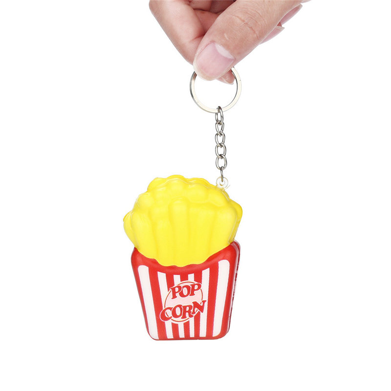 Squishies French Fries Slow Rising Cream Scented Keychain Stress Relief Toys Squishy Cartoon Squish Toys Squeeze Novelty #20 Novelty & Gag Toys Gags & Practical Jokes