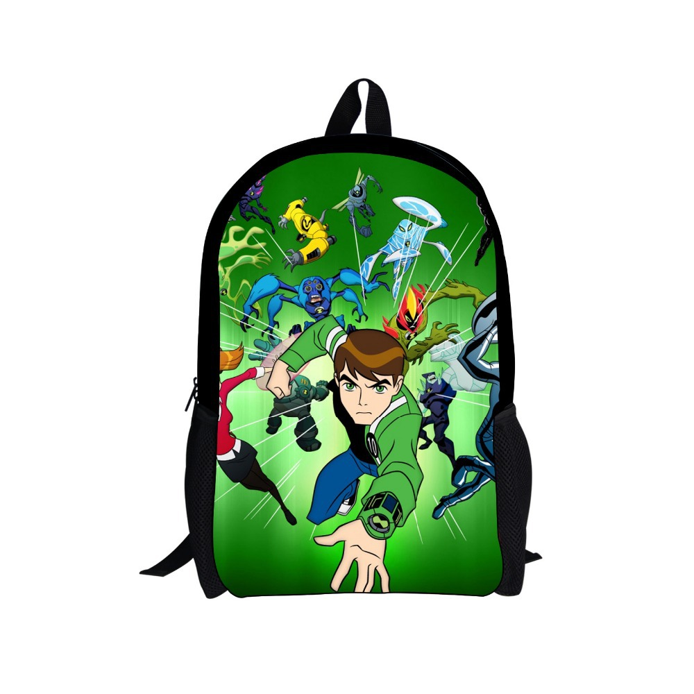Drop shipping 2017 Children Backpacks Cartoon Ben 10 Backpack Students Boys Bagpack Ben10 School Bags For Teenagers Kids Mochila
