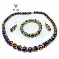 """Wedding Accessories Jewelry Trendy Women Glass Party 1'set Mix Beads Necklace Bracelet Earrings 0.31-0.47"""" Set Free Shipping"""