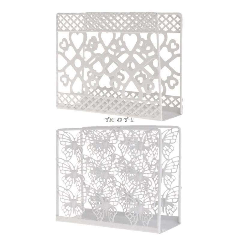 small Pretty brown metal napkin//serviette holder indoors or garden