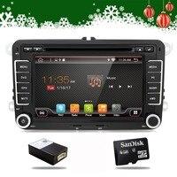Android 7,1 4 ядра 2din автомобильный DVD GPS Navi для Volkswagen VW Skoda Octavia Golf 5 6 touran passat B6 jetta Polo Tiguan плеер