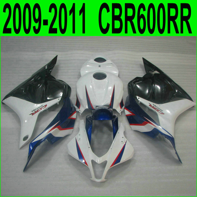 For Honda injection molding fairings CBR 600RR 09 12 white black blue motorcycle fairing kit CBR600RR
