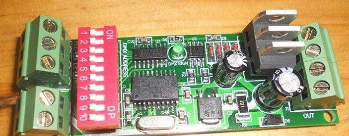 3 канала легко DMX светодиодный контроллер; dmx декодер и светодиодный драйвер