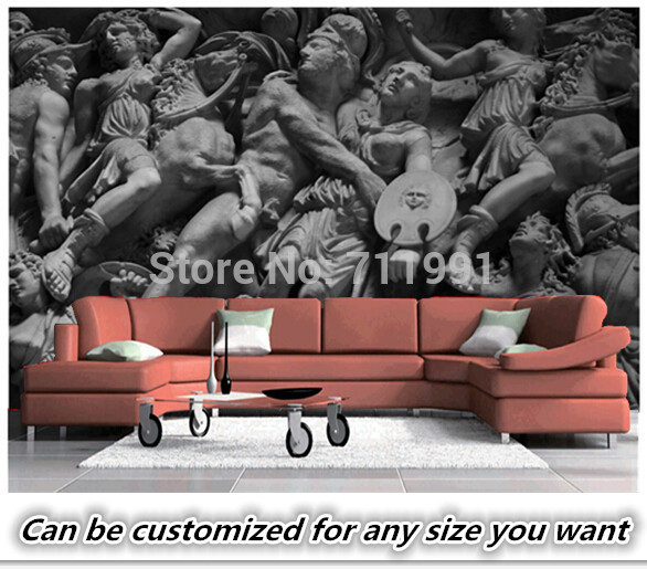 Custom wallpaper for walls 3 d, ancient Rome statue to the sitting room the bedroom TV setting wall waterproof PVC wallpaper custom baby wallpaper snow white and the seven dwarfs bedroom for the children s room mural backdrop stereoscopic 3d