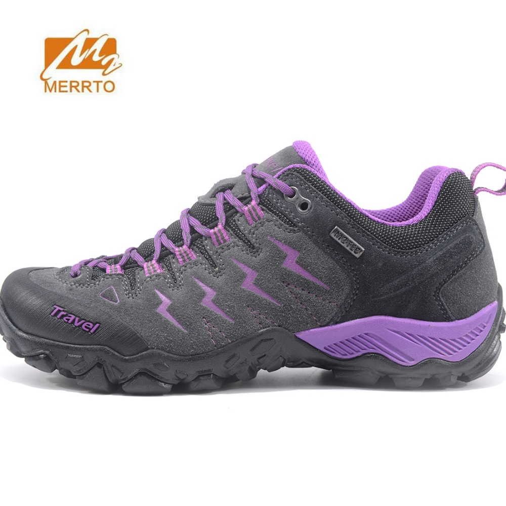 MERRTO Women's Leather Outdoor Hiking Trekking Sneakers Shoes Footwear For Women Sports Climbing Mountain Shoes Sneakers Woman 2017 womens sports summer outdoor hiking trekking aqua shoes sandals sneakers for women sport climbing mountain shoes woman