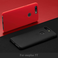 100 Official Back Cover For Oneplus 5T Case Oneplus5t Phone Shell Cases And Covers Original Accessories