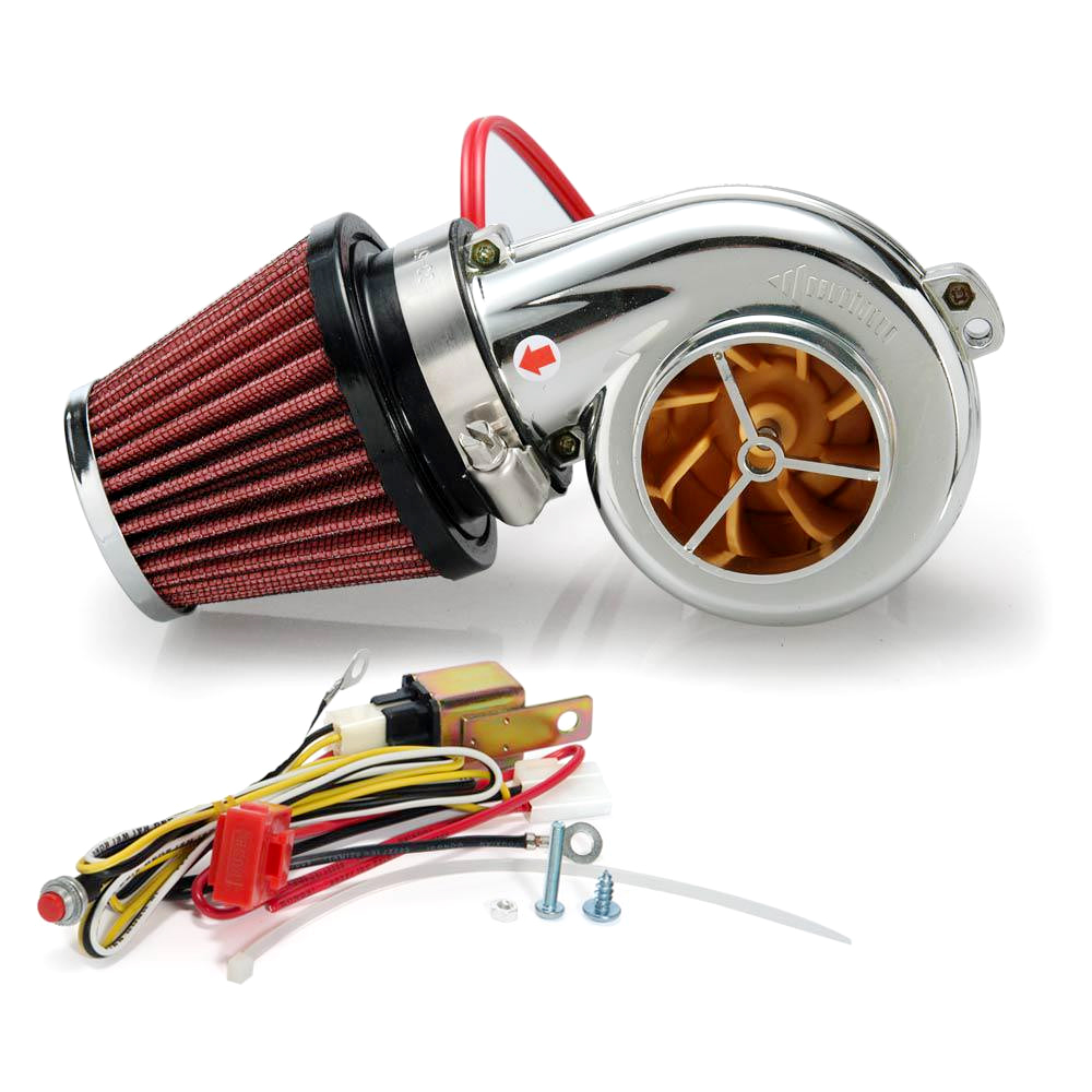 Universal Motorcycle Electric Turbocharger Suite Turbo 500 For Motor Bike Have Mushroom Air Filter In Chargers Parts From