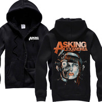 Free Shipping Asking Alexandria PICTURES Great For Any Fan Death Core Heavy Metal Hoodie All Size