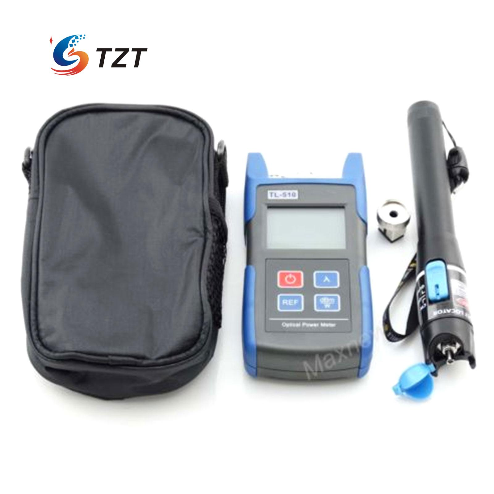 TL510 Optical Power Meter with FC SC Connector +TL532 Fiber Cable Locator Tester 10km jiahui fc sc flange connector optical adapter couplers black silver 2 pcs