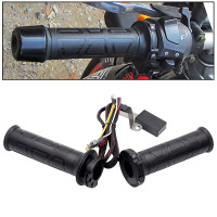 1 Pair 12V 12W 24W 22MM Adjustable Temperature Motorcycle Handlebar Universal Electric Heated Handle Motorbike Heating