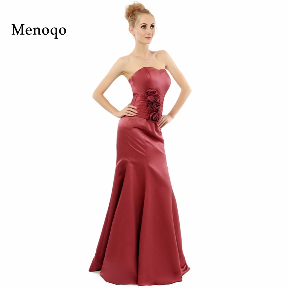 Beautiful Custom made Elegant Mermaid Satin Sweetheart Sleeveless Floor length long 2019 Real Model   Bridesmaid     Dresses   Newly