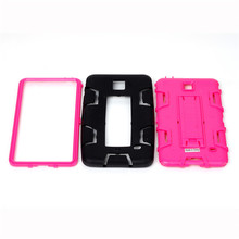 Protective shell with Stand For Samsung Galaxy Tab 4 T230 Armor Case Shockproof  3 in 1 TPU+PC Hybrid Tablet Case  B62