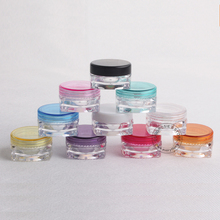 100PCS Empty Colorful 3g jar cosmetic container square mini small powder eyeliner case