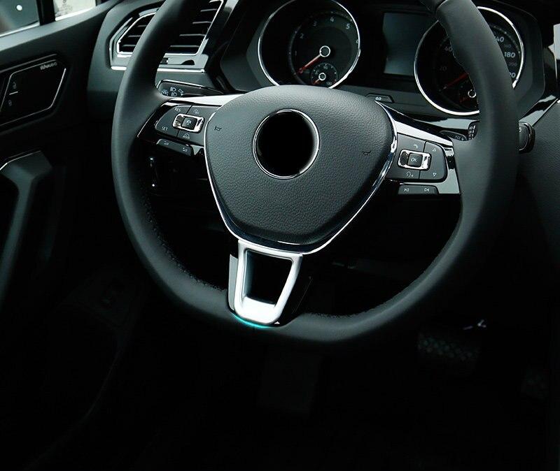 Matte Interior Steering Wheel Cover Trim 1pcs for Volkswagen Arteon 2017-2018