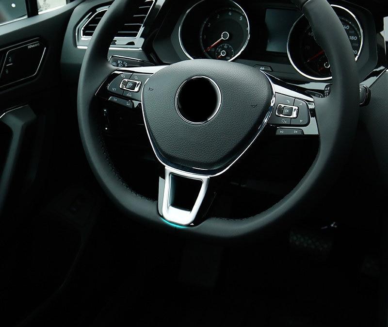ABS Matt Interior Steering Wheel U shape Cover Trim 1PCS For VW Transporter (T6) Caravelle/ Multivan 2017 2018