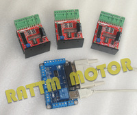3 Pcs TB6600 Single axis 48V/4.5A CNC Driver kit for CNC Router Mill+Breakout Board V5