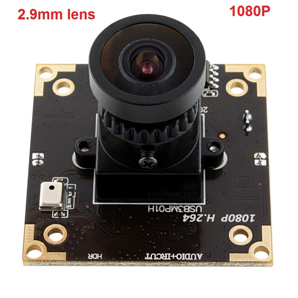 все цены на Free shipping 5pieces 3mp /2mp 1080P H.264/MJPEG/YUY2 USB2.0 Aptina AR0331 CMOS wide angle 2.9mm lens USB 2.0 WDR Camera board