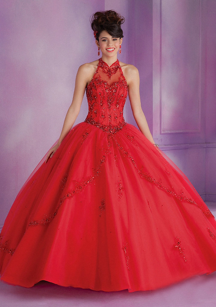 Popular Red Quinceanera Dresses-Buy Cheap Red Quinceanera ...