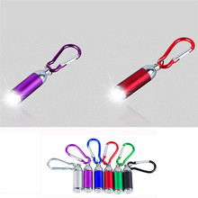 1W Mini Pocket LED Flashlight Carry Carabiner Keychain Camping+battery WHOLESALES NRJ13