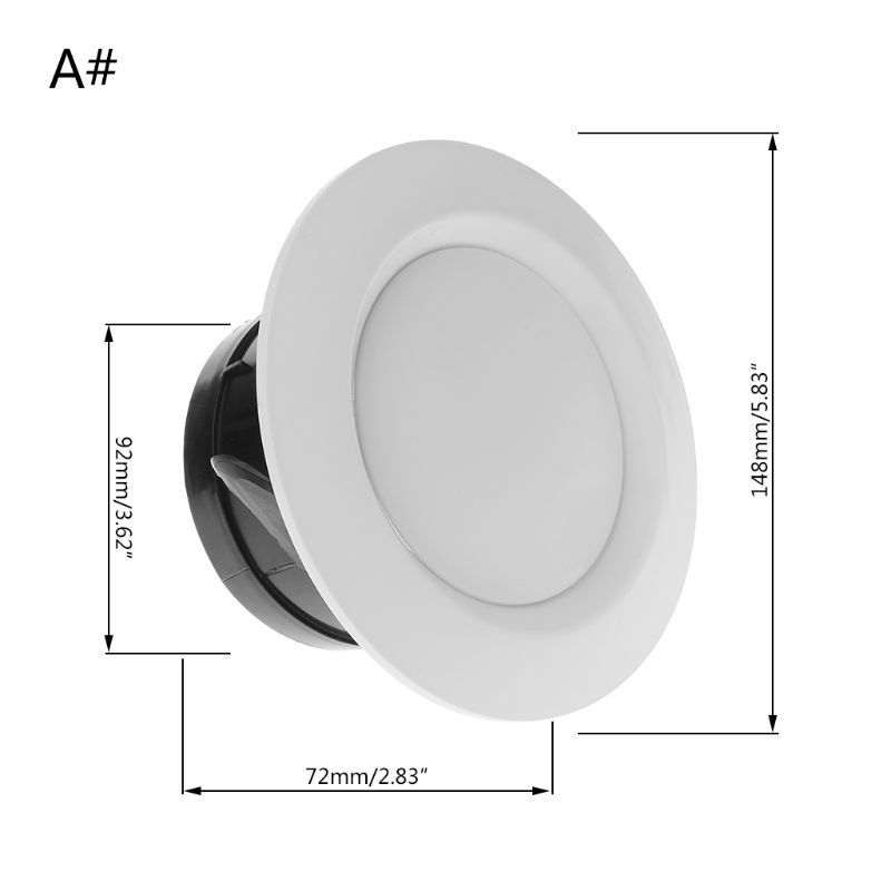 1pc Wall Ceiling Home ABS Air Vent Round Ventilation Duct Cover Parts Accessory 1pc Wall Ceiling Home ABS Air Vent Round Ventilation Duct Cover Parts Accessory