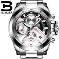Relogio Masculino 2016 BINGER Watch Chronograph Mens Watches Top Brand Luxury Sports Watches Men Clock Quartz Wrist Watch Male