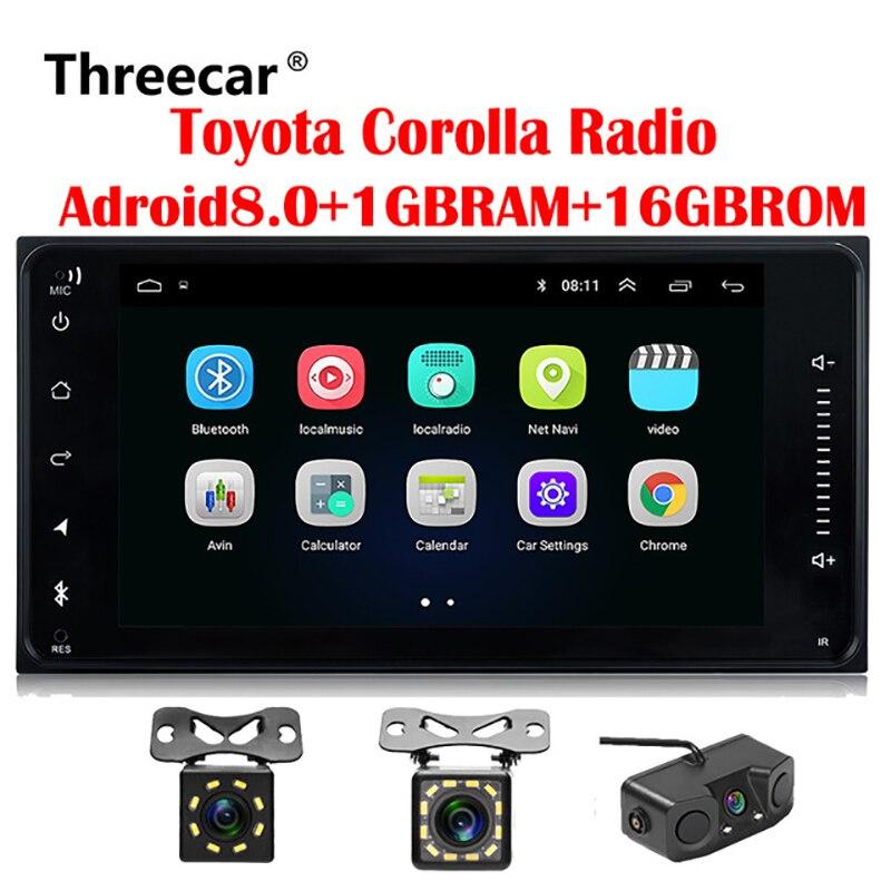 все цены на 2 din Car radio Android GPS for Toyota Old Corolla Universal radio wifi Capacitive 7 inch DVD player онлайн