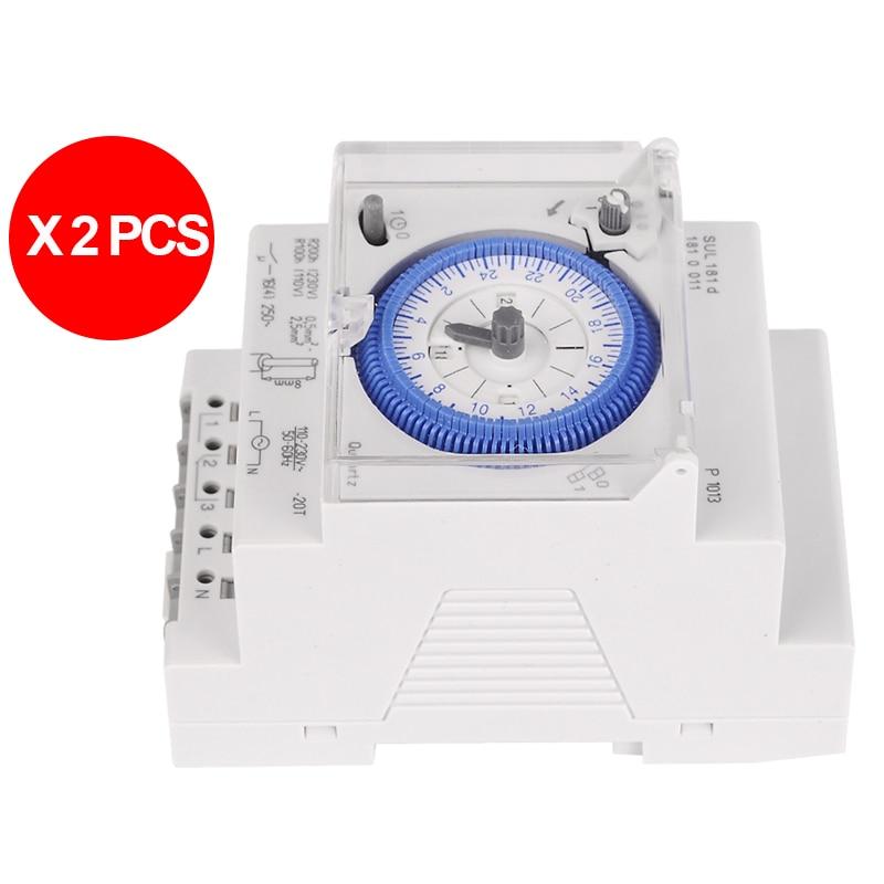 2PCS/Lot Brand New SUL 181d Analog 24 hours Mechanical DIN RAIL Timer Switch, 15minutes. 2pcs lot ncp81101bmntxg ncp81101b 81101b