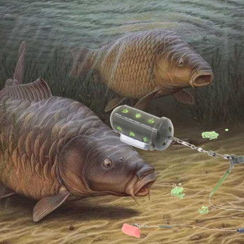 الصيد المغذية أداة 20-40G الطعم إغراء حفرة جهاز الرصاص بيليه الصيد معالجة ثقالة Pesca تغذية الحوض الصغير قفص مربع جديد