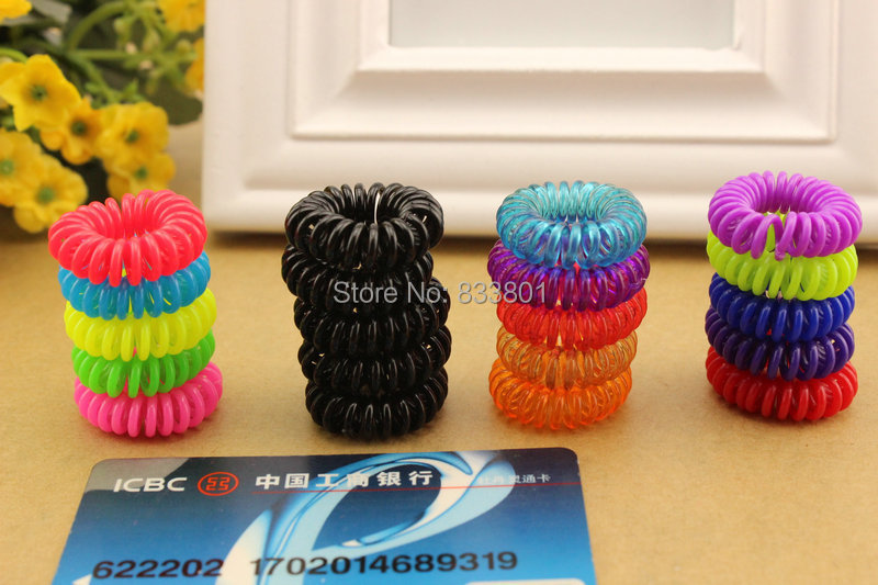 10pcs/lot 28mm Child baby Telephone Cord Elastic Ponytail Holders Hair Ring Accessories Girl Women Rubber Bands Tie Gum 100pcs spiral spin screw braider hair ties spiral shape twist elastic hair bands kid ponytail holder tie gum hair accessories