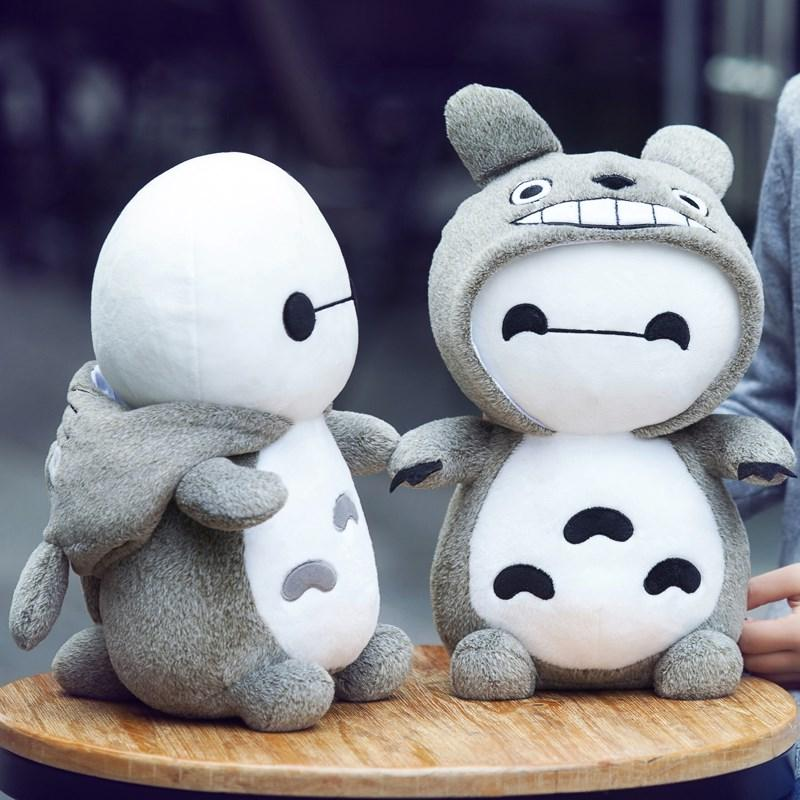 Candice guo plush toy stuffed doll cartoon animal big white fat Baymax changed to Totoro christmas present kid birthday gift 1pc всё для лепки гамма пластилин юный художник 6 цветов