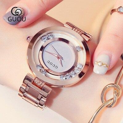 Zegarki 2018 Hot Sale Luxury Brand Rose Gold stainless steel Ladies Quartz Watch Lady Rhinestone Waterproof watch Reloj mujer все цены