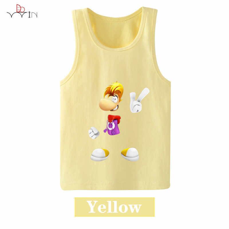 子供服 Rayman は伝説漫画アニメーションベビーノースリーブ子供のベスト服男の子または女の子 tシャツ