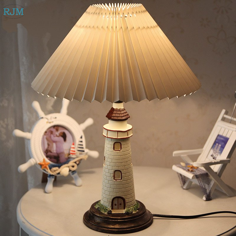 Europe and The United States Mediterranean Bedroom Childrens Room Night Light Boys and Girls Bedside Table LampEurope and The United States Mediterranean Bedroom Childrens Room Night Light Boys and Girls Bedside Table Lamp
