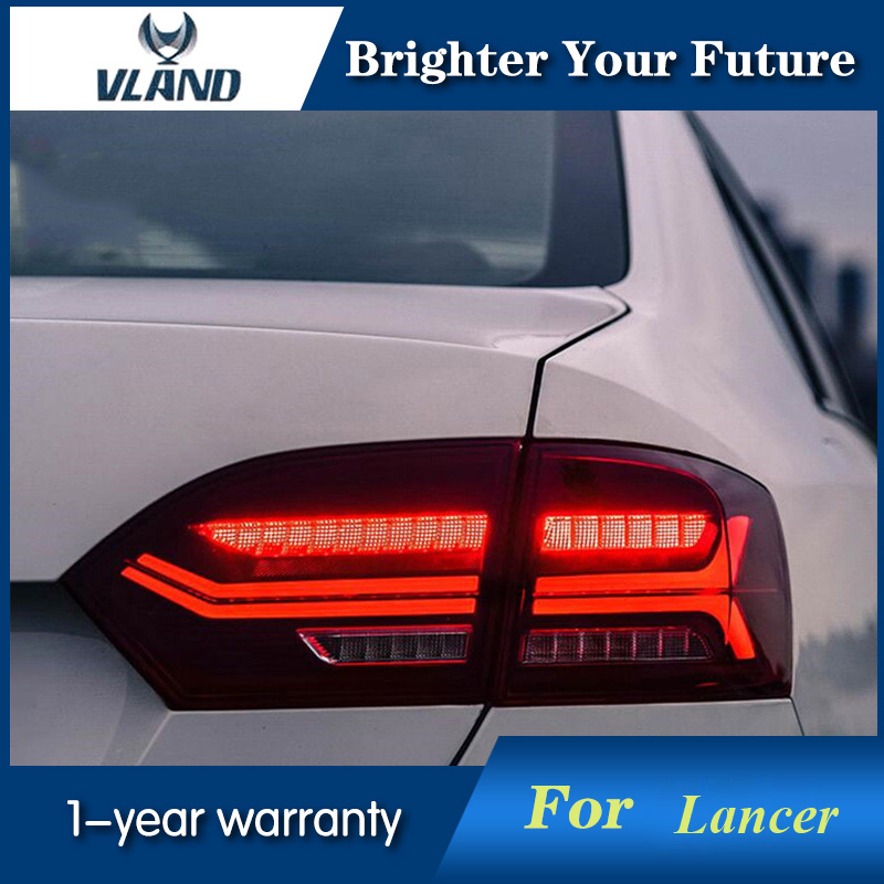 LED Tail Light Assembly For Volkswagen VW New Sagitar Jetta MK6 Rear Lamps 2012-2016 Taillight turn signal liandlee for volkswagen vw jetta a6 1b mk6 vw sagitar led car license plate lights number frame light high quality led lamp