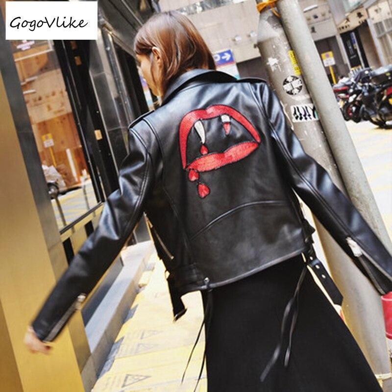 Mince Rouge Vintage Avec En New Mujer Moteur Veste Vampire Manteau Ceinture Pu Chaqueta Lt044s30 Printemps Cuero Noir 2018 Cuir HTpxwxv8